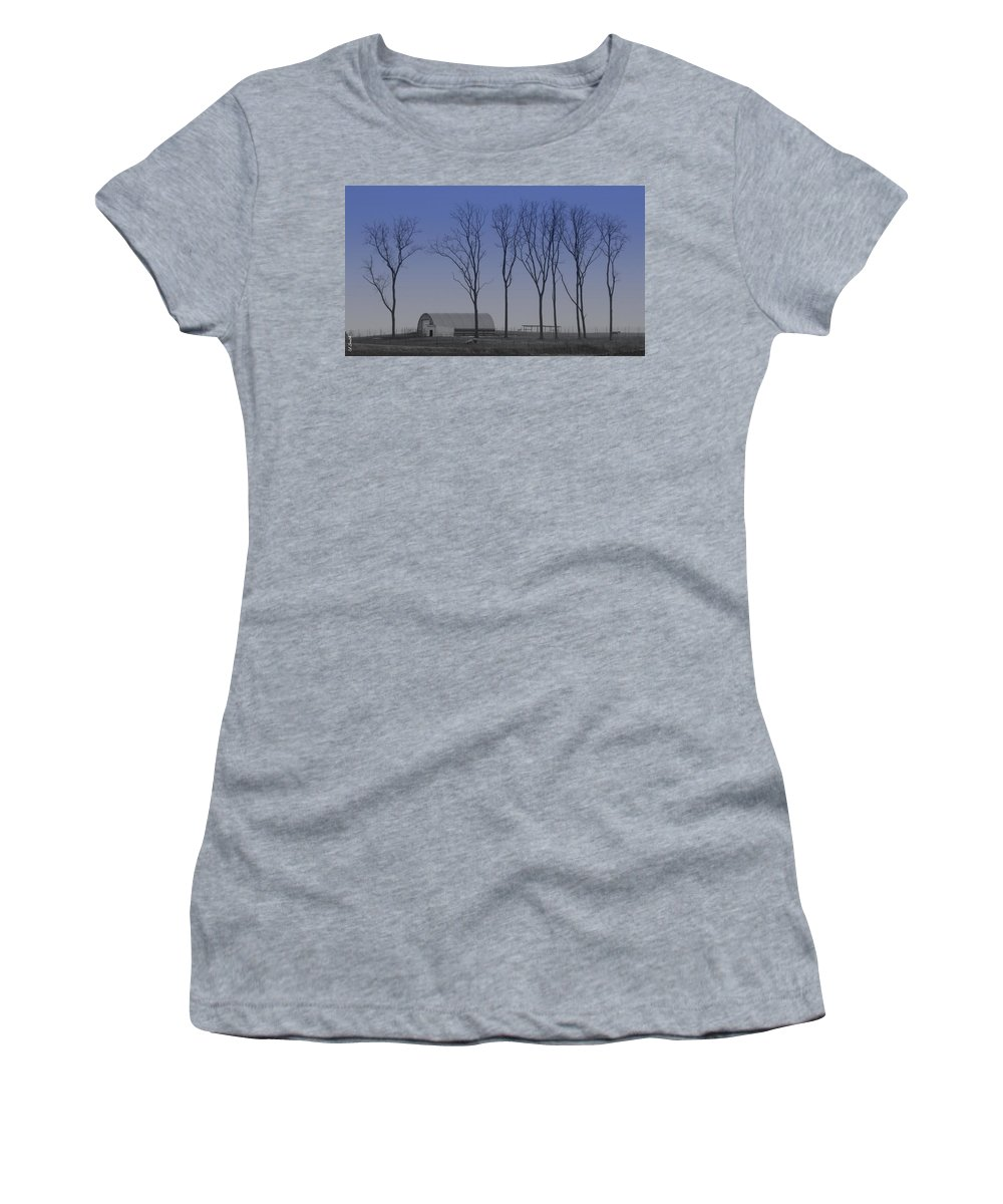 Matching Curves Women's T-Shirt (Athletic Fit) featuring the photograph Matching Curves by Ed Smith