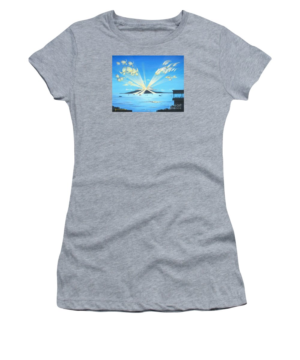 Maui Women's T-Shirt featuring the painting Maui Magic by Jerome Stumphauzer
