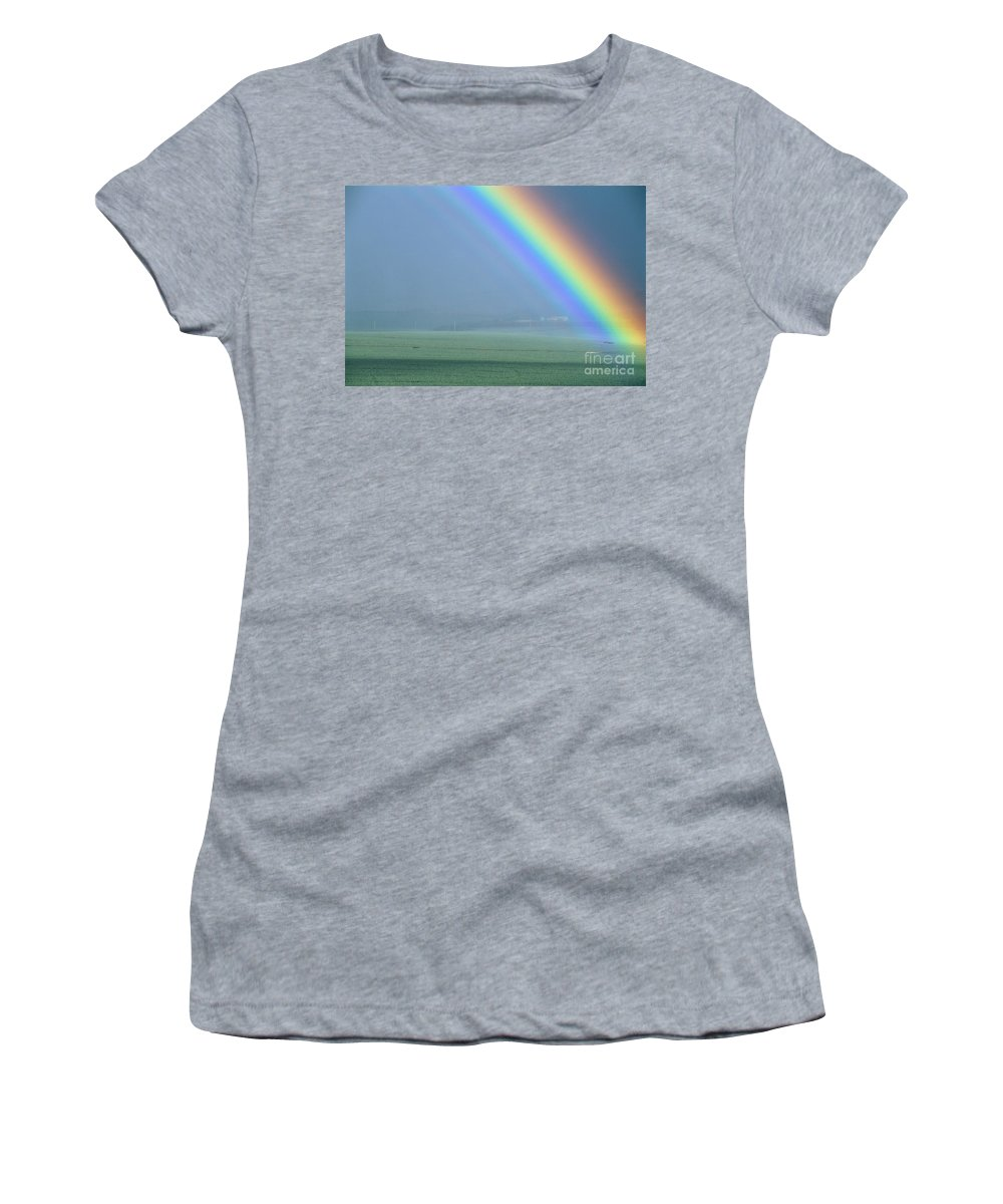 Amaze Women's T-Shirt (Athletic Fit) featuring the photograph Maui Rainbow by Bill Schildge - Printscapes