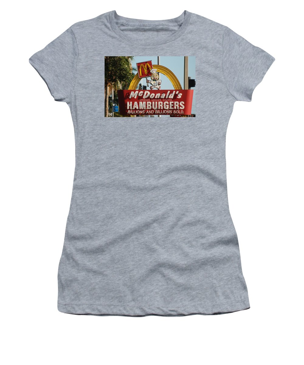 Mcdonalds Women's T-Shirt featuring the photograph Mc Donalds by Rob Hans