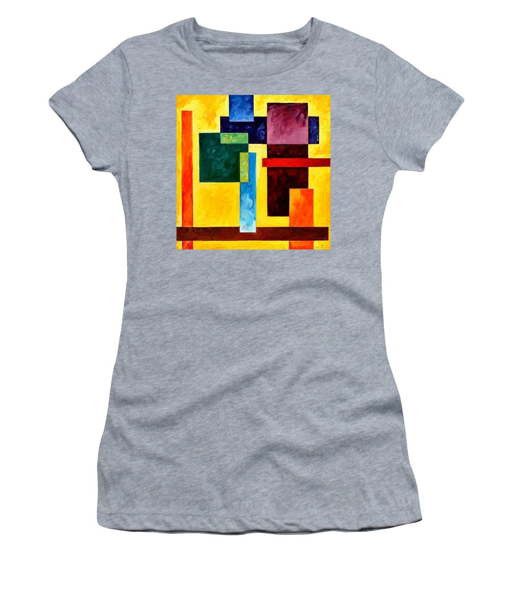 Afremov Women's T-Shirt (Athletic Fit) featuring the painting Mechanical Suite by Leonid Afremov