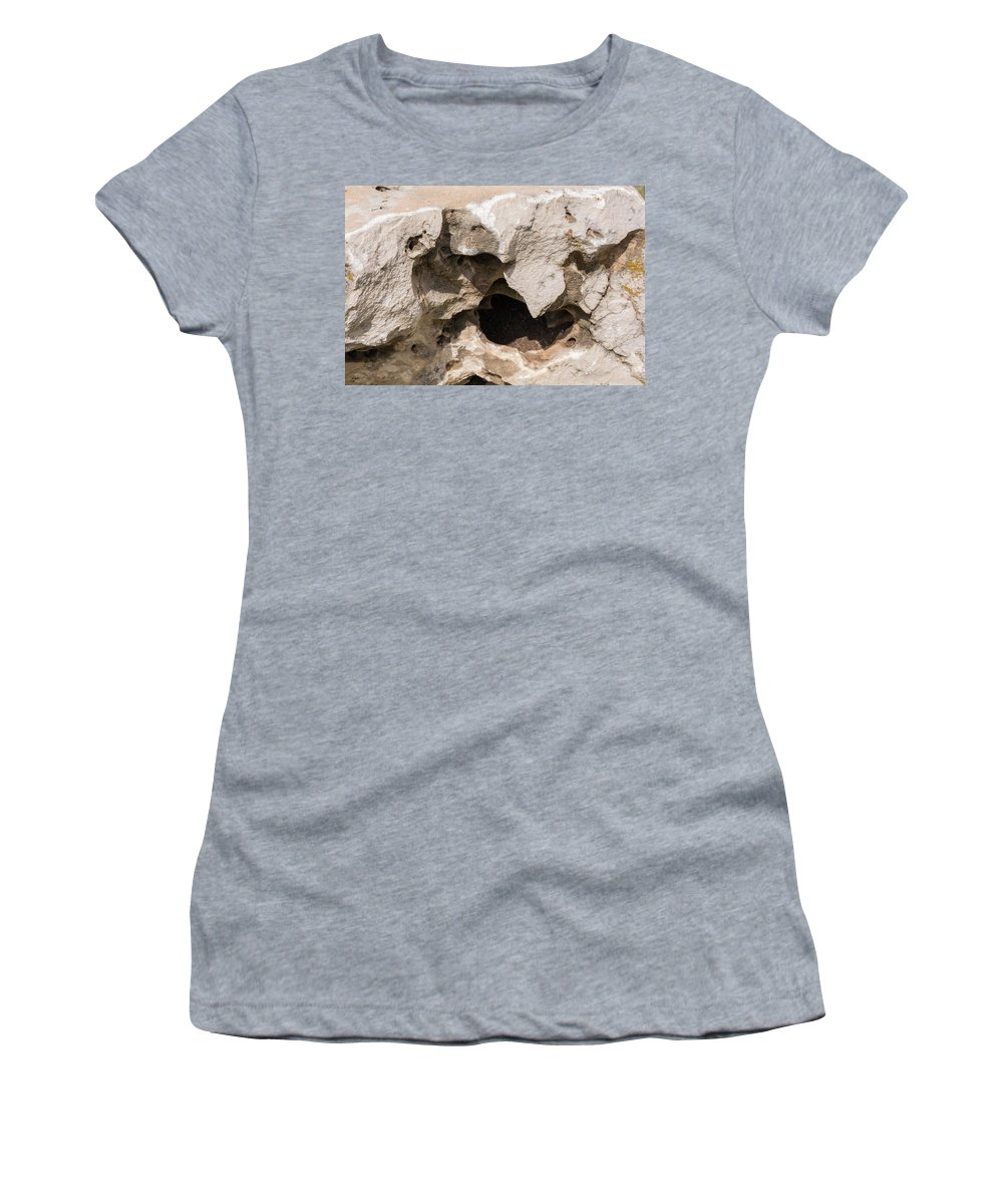Limestone Women's T-Shirt featuring the photograph Monster's Maw by Richard Campbell