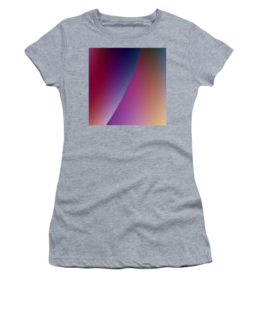 Digital Art Women's T-Shirt (Athletic Fit) featuring the digital art Moon Iv by Dragica Micki Fortuna