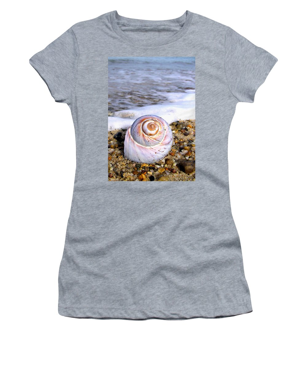 Moon Women's T-Shirt (Athletic Fit) featuring the photograph Moon Snail by Charles Harden
