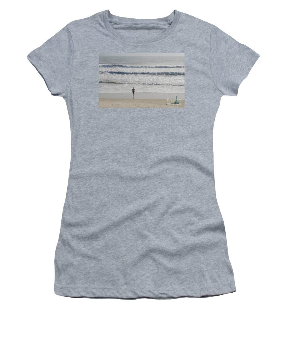 Surfing Women's T-Shirt (Athletic Fit) featuring the photograph Morning Surf by David Lee Thompson