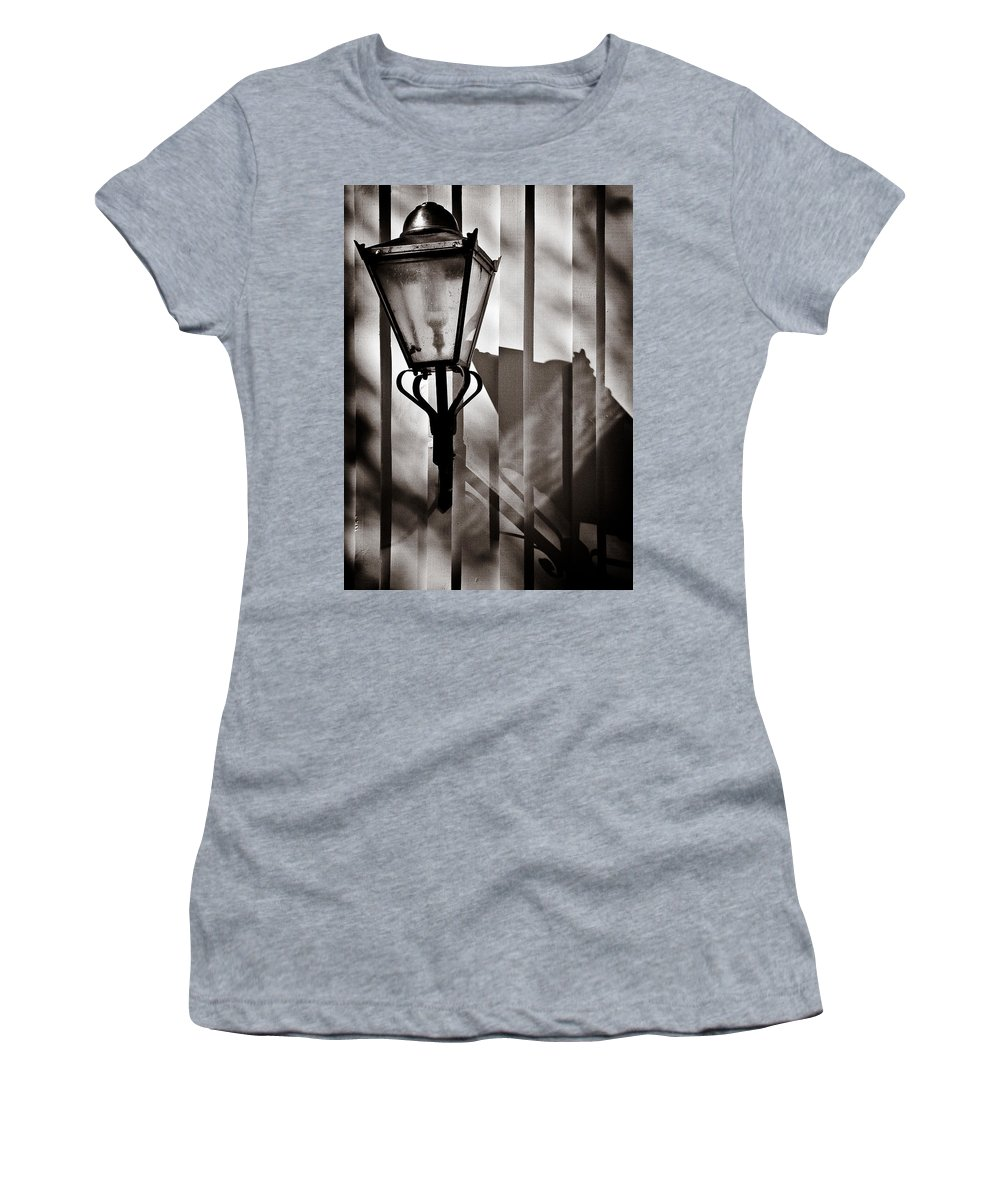 Moth Women's T-Shirt (Athletic Fit) featuring the photograph Moth And Lamp by Dave Bowman