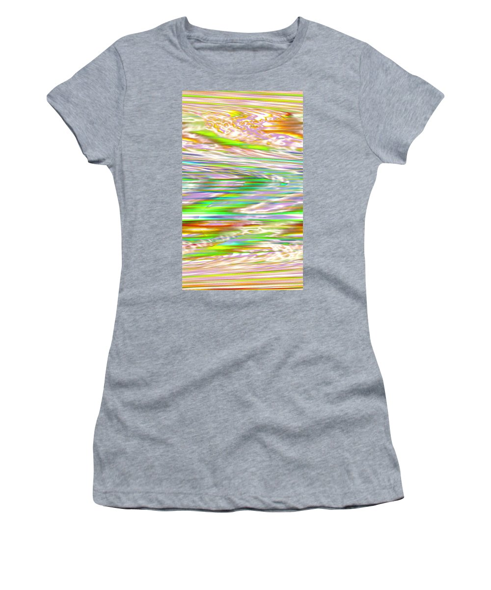 Moveonart! Digital Gallery Women's T-Shirt featuring the digital art Moveonart Ancient Future Dreaming by Jacob Kanduch
