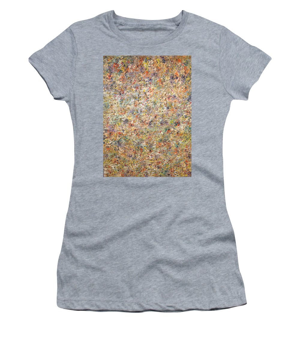 Moveonart! Digital Gallery Women's T-Shirt featuring the painting Moveonart Color Code 1 by Jacob Kanduch