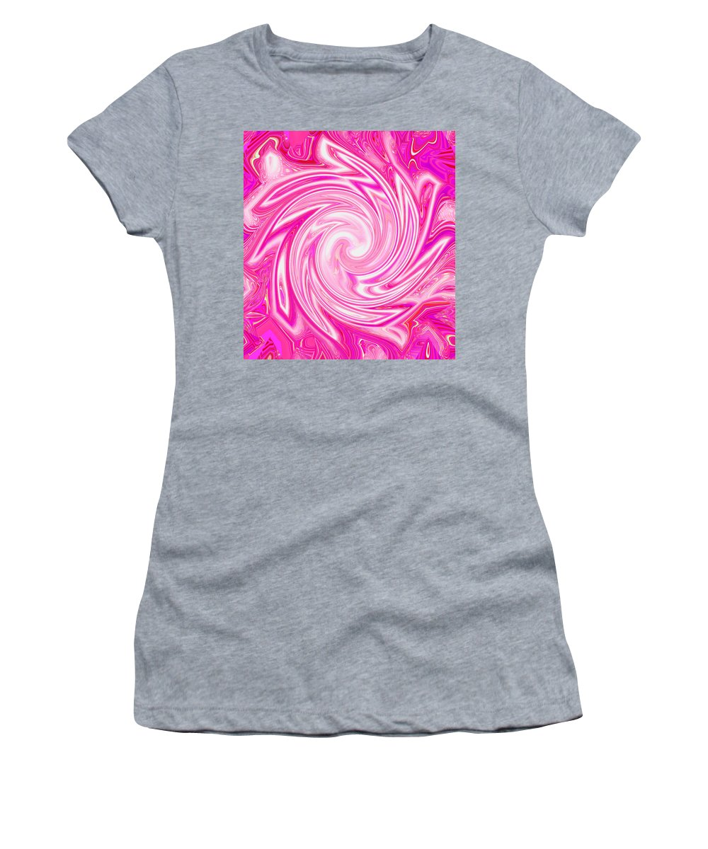 Moveonart! Digital Gallery Lower Nob Hill San Francisco California Jacob Kanduch Women's T-Shirt (Athletic Fit) featuring the digital art Moveonart Come Holy Spirit 3 by Jacob Kanduch