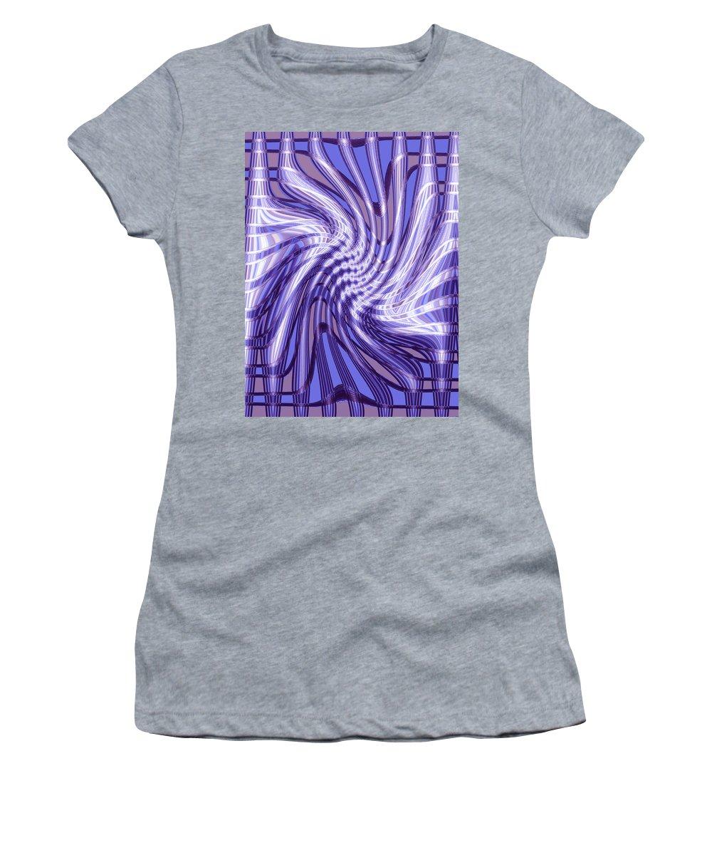 Moveonart Digital Gallery Lower Nob Hill San Francisco California Jacob Kanduch Women's T-Shirt (Athletic Fit) featuring the digital art Moveonart Future Grasp 4 by Jacob Kanduch