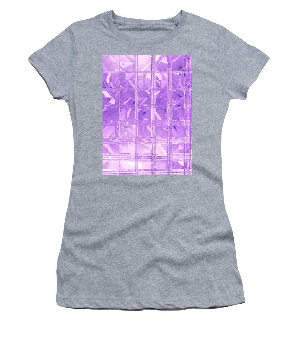 Moveonart Digital Gallery San Francisco California Lower Nob Hill Jacob Kane Kanduch Women's T-Shirt (Athletic Fit) featuring the digital art Moveonart Look Through My Window 1 by Jacob Kanduch