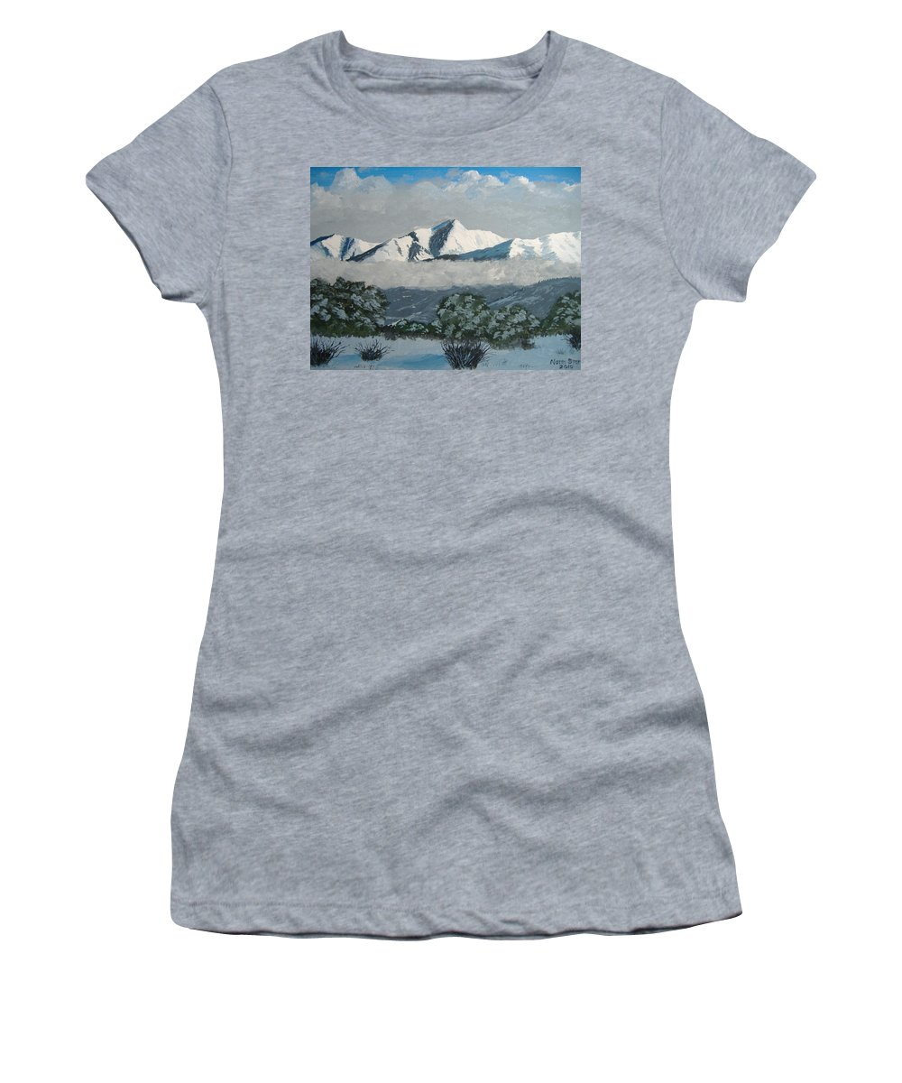 Colorado Women's T-Shirt featuring the painting Mt Princeton Co by Norm Starks