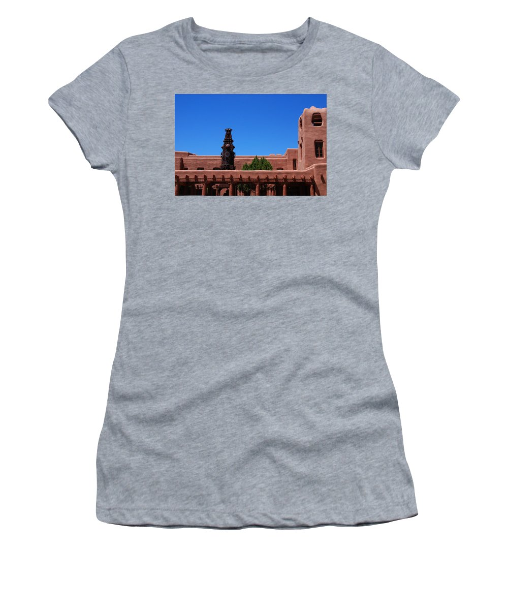 Museum Women's T-Shirt (Athletic Fit) featuring the photograph Museum Of Indian Arts And Culture Santa Fe by Susanne Van Hulst