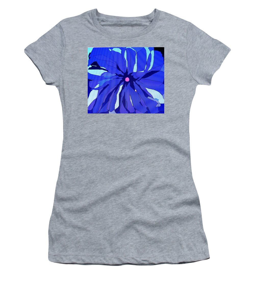 Flower Women's T-Shirt (Athletic Fit) featuring the digital art My Fantastic Flower by Ian MacDonald