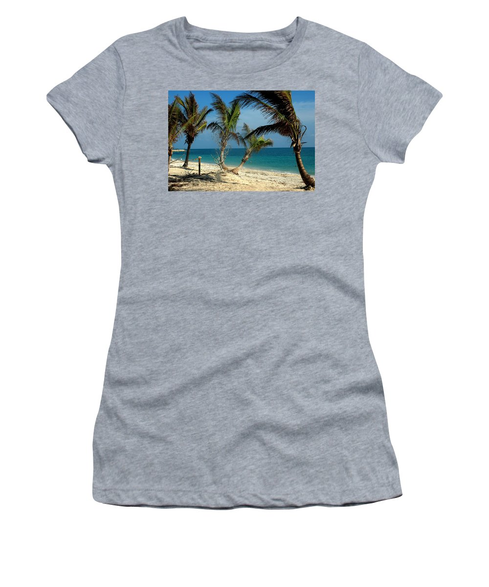 Photography Women's T-Shirt (Athletic Fit) featuring the photograph My Favorite Beach by Susanne Van Hulst