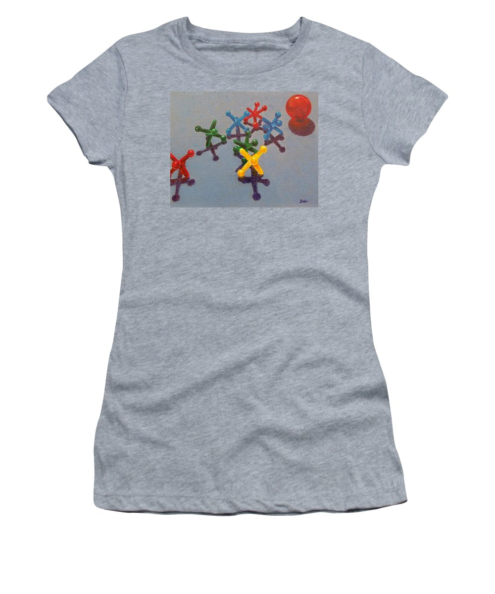 Sue Delain Women's T-Shirt (Athletic Fit) featuring the painting My Turn by Susan DeLain