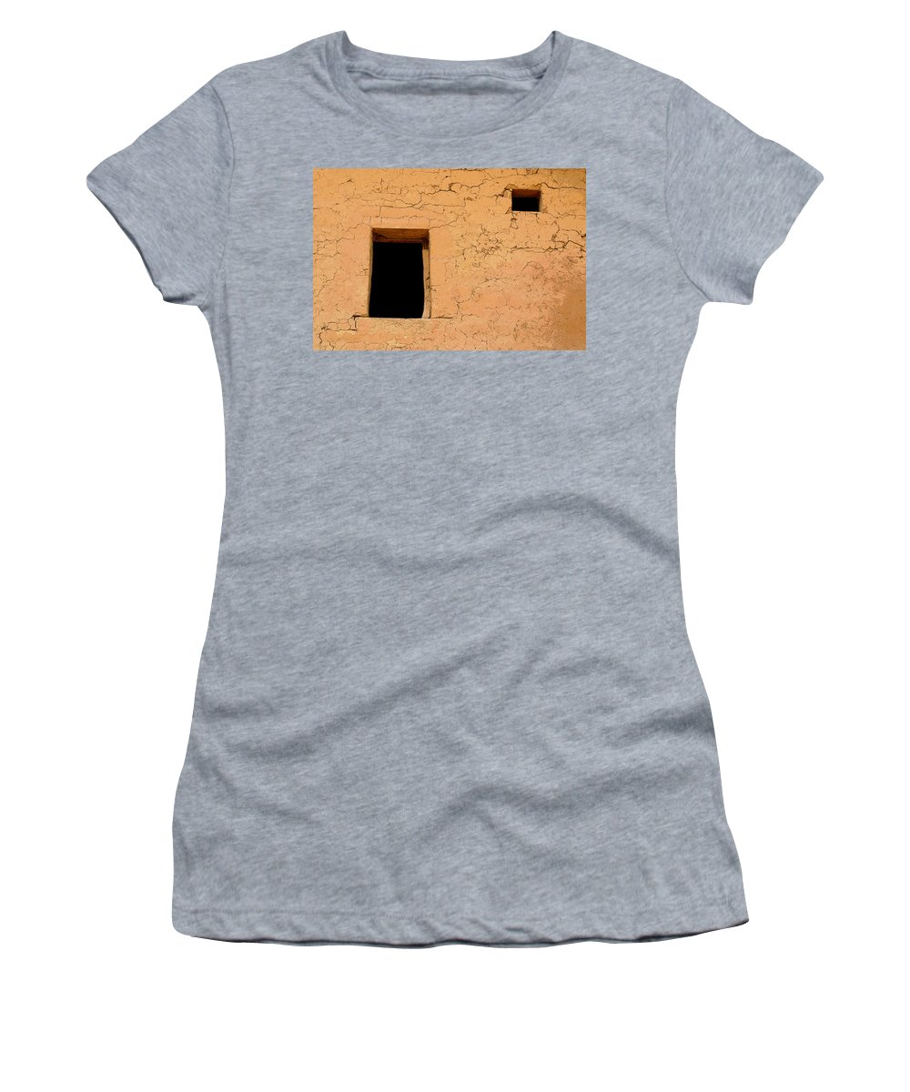Adobe Women's T-Shirt (Athletic Fit) featuring the photograph Mysterious Places by Joe Kozlowski