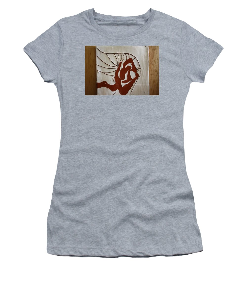 Jesus Women's T-Shirt (Athletic Fit) featuring the ceramic art Nakimuli - Tile by Gloria Ssali