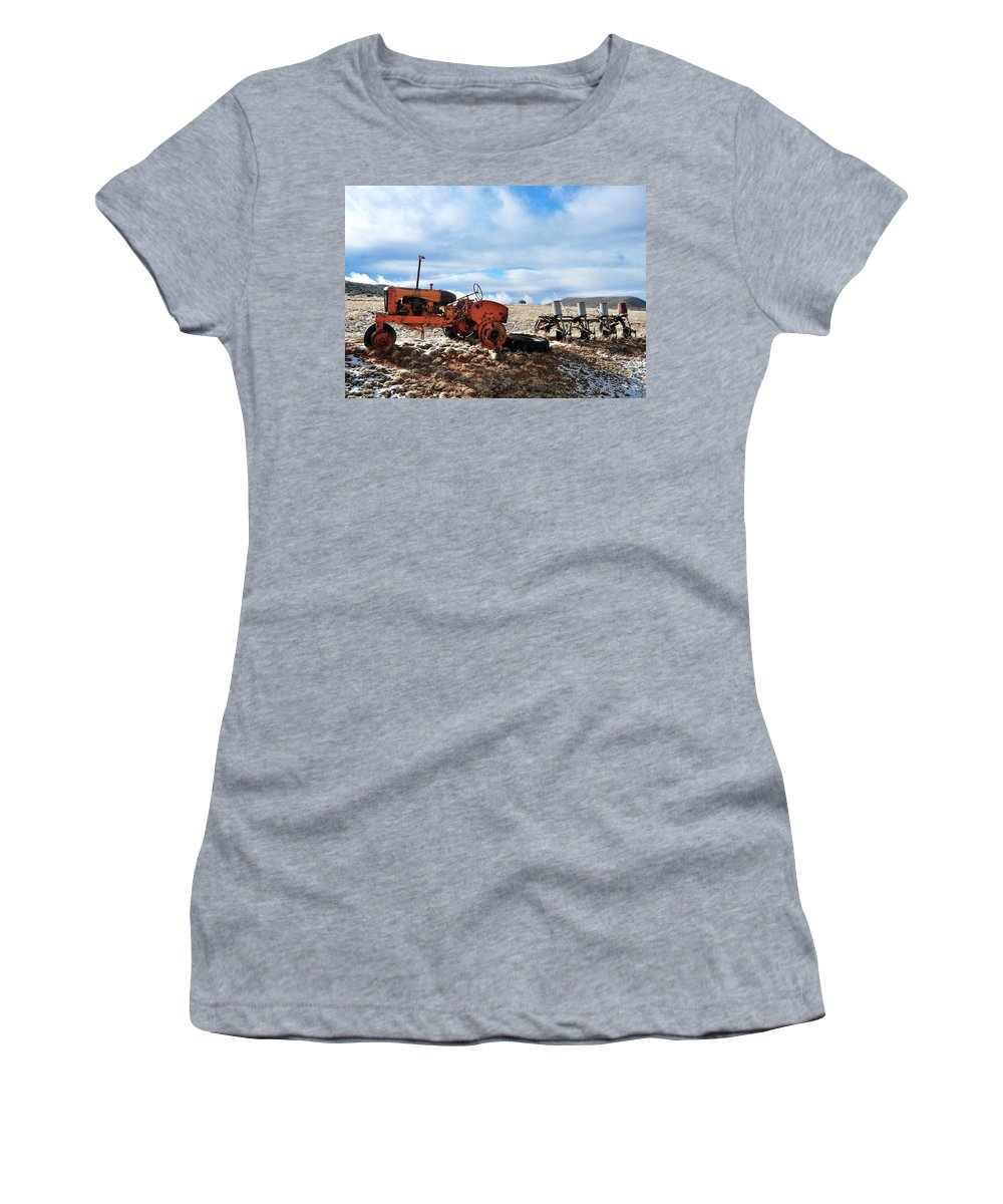 Winter Women's T-Shirt featuring the photograph New Mexico Tractor by David Arment