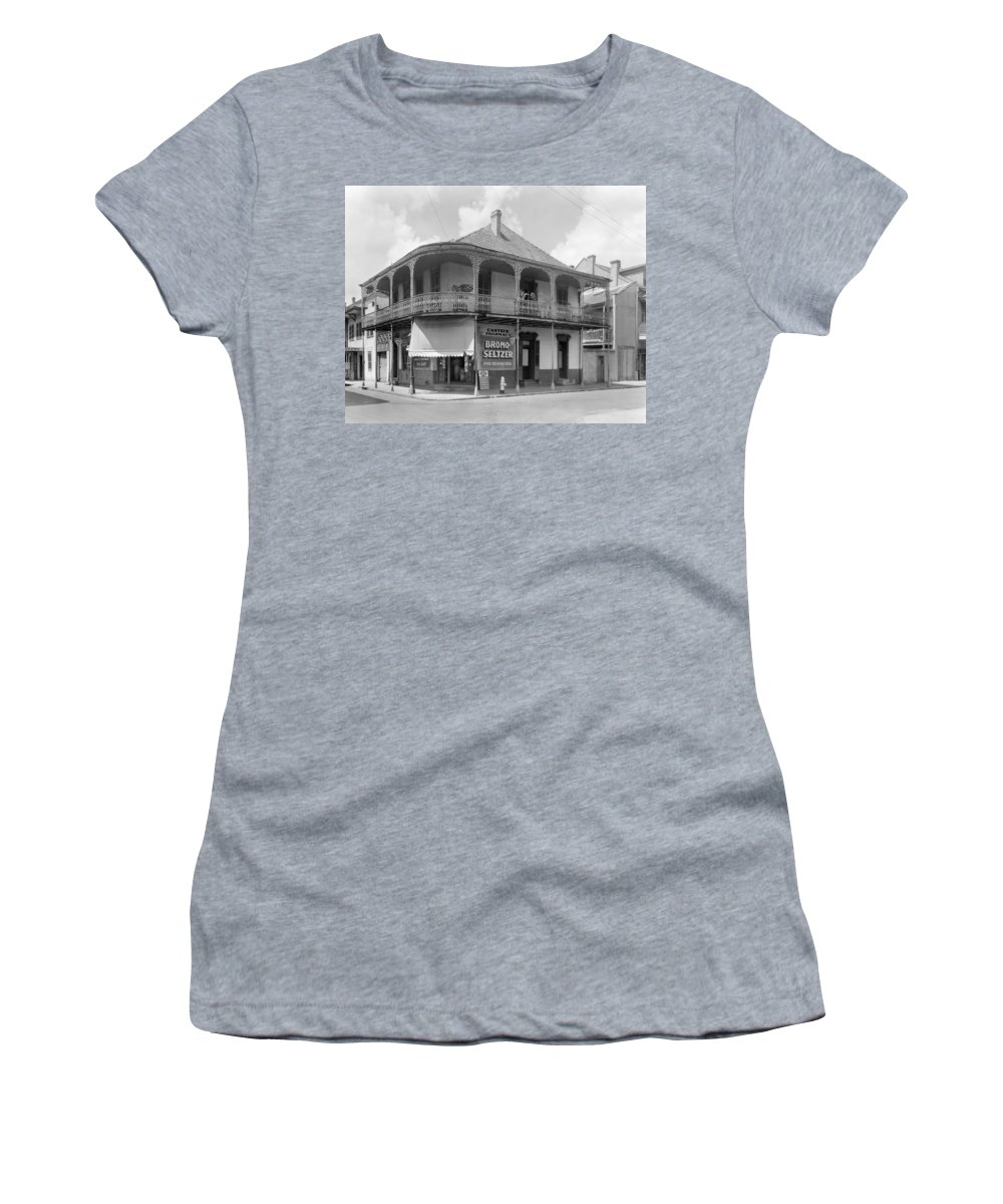 1938 Women's T-Shirt (Athletic Fit) featuring the photograph New Orleans Pharmacy by The Granger Collection