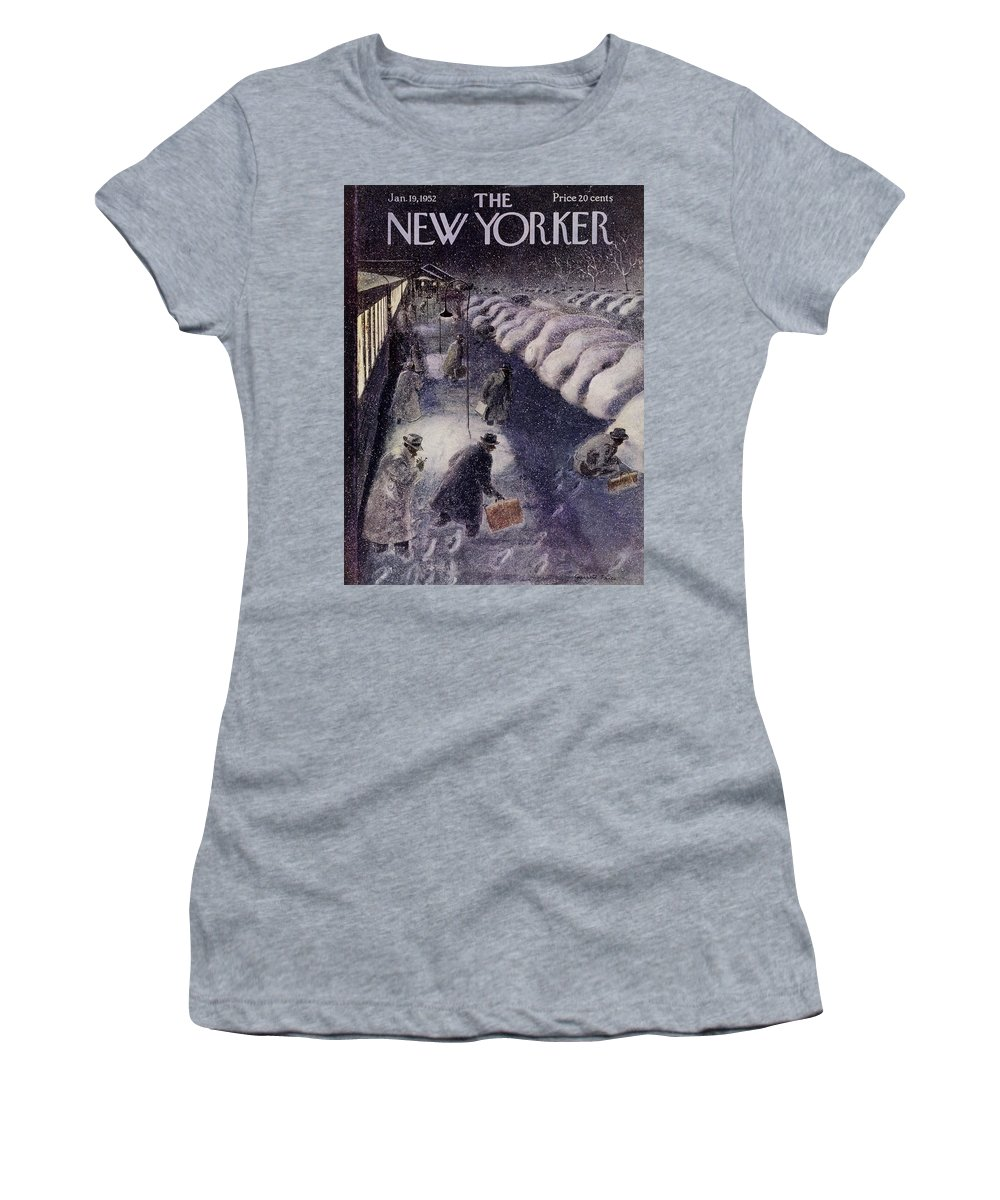 Illustration Women's T-Shirt featuring the painting New Yorker January 19 1952 by Garrett Price
