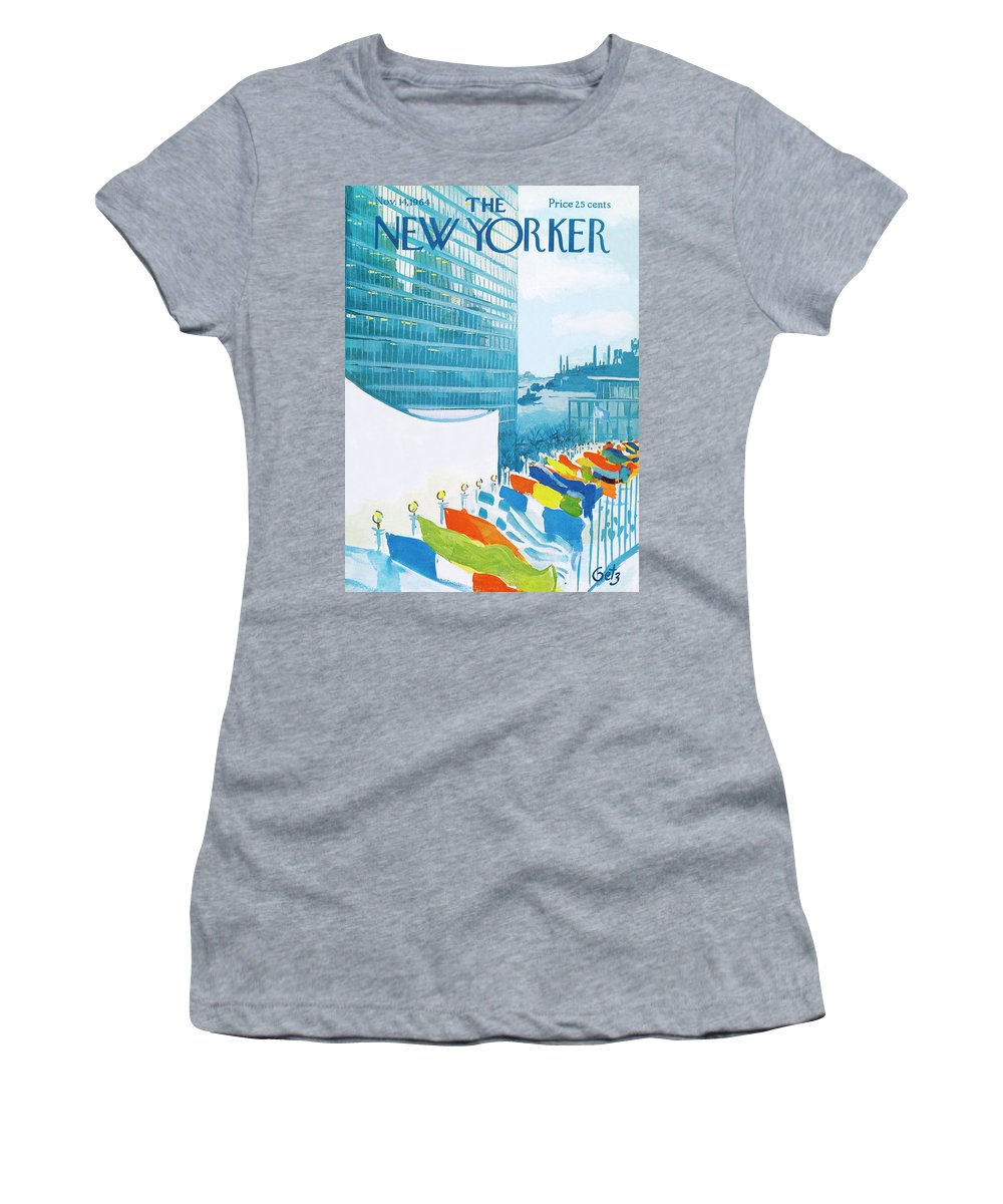 Urban Women's T-Shirt featuring the painting New Yorker November 14th, 1964 by Arthur Getz