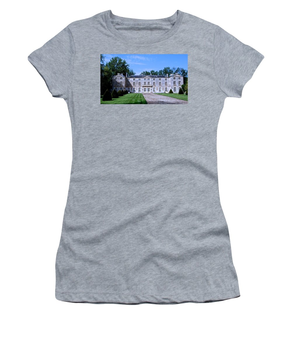 Normandy Women's T-Shirt featuring the photograph Normandy Manor House by Eric Tressler