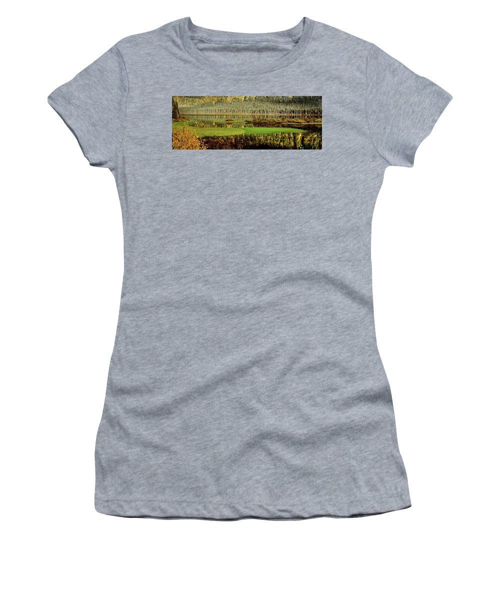 Women's T-Shirt featuring the digital art Northern Lake by Mark Duffy
