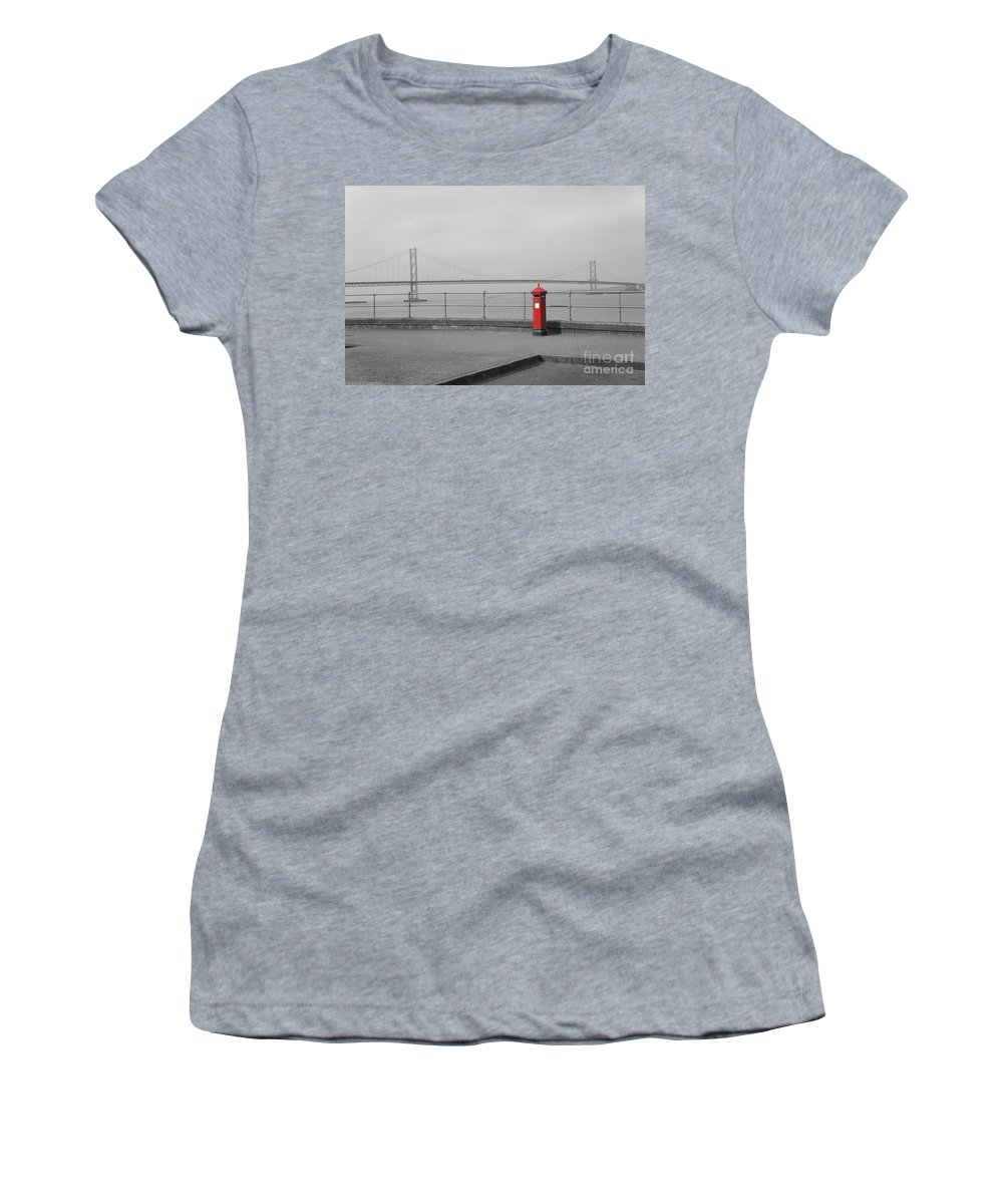 South Queensferry Embankment Women's T-Shirt (Athletic Fit) featuring the photograph Nostalgia Iv by Elena Perelman