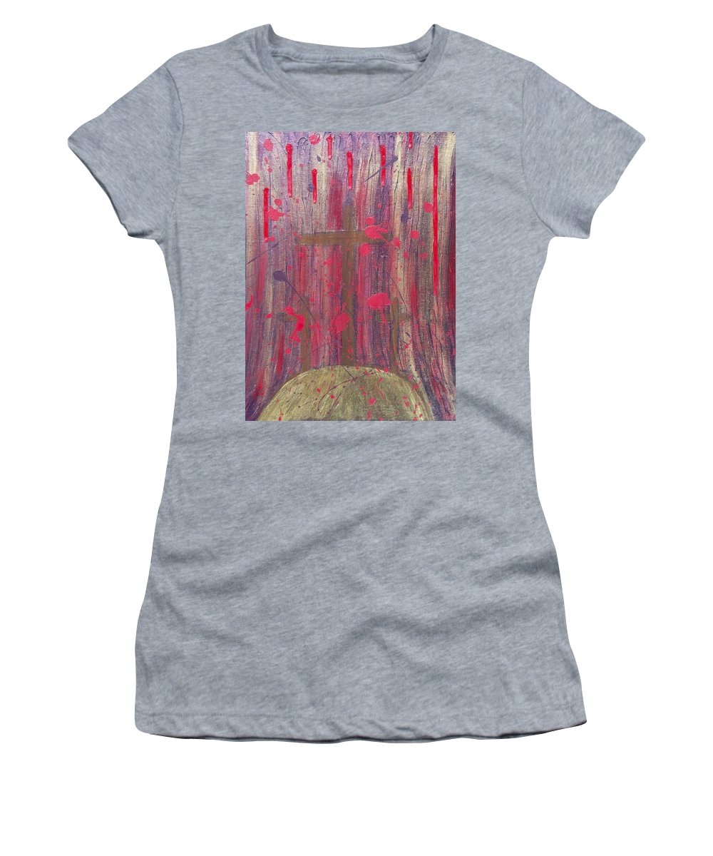 Jesus Women's T-Shirt (Athletic Fit) featuring the painting Not In Vain by Angelina Vick