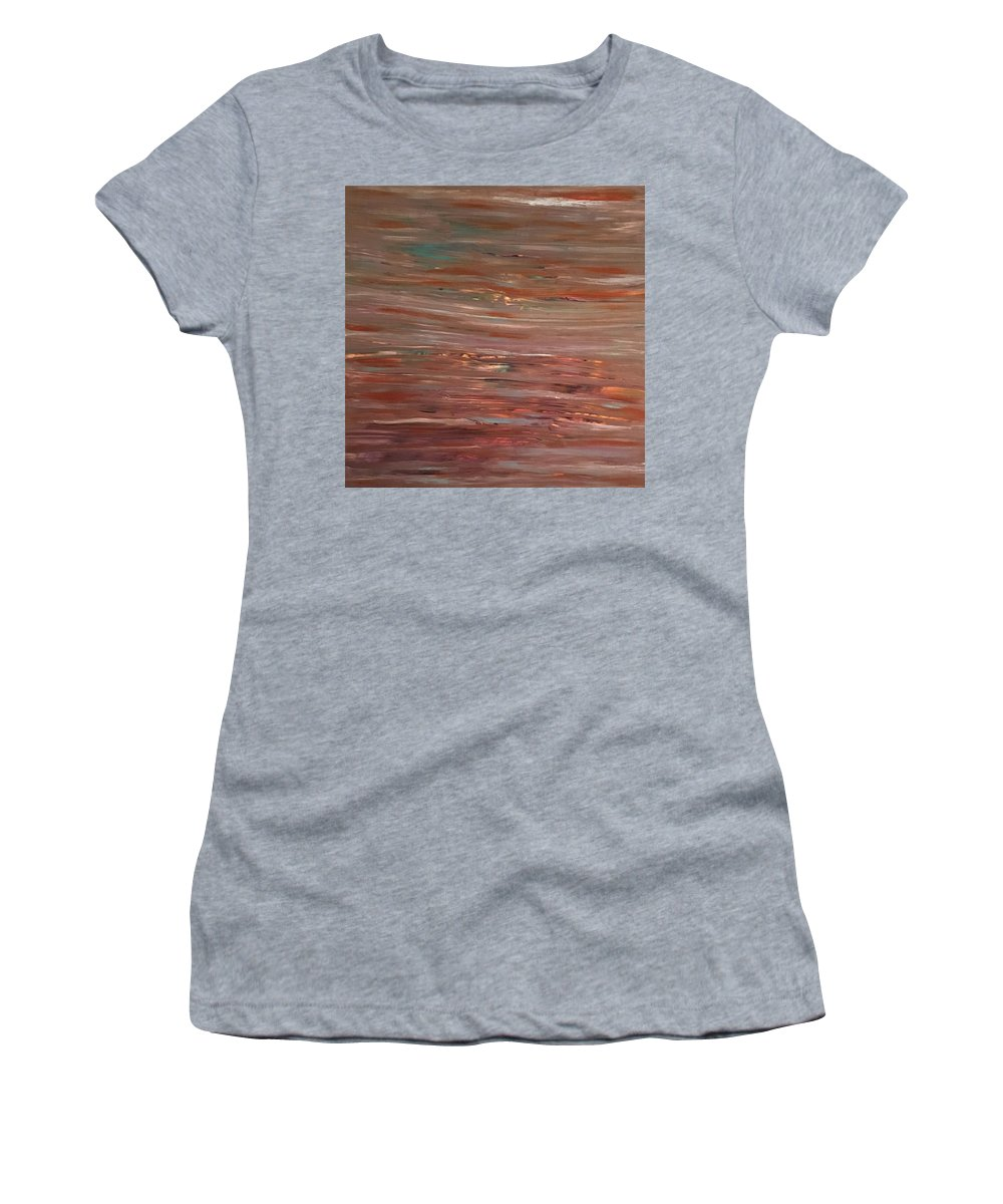 Abstract Women's T-Shirt (Athletic Fit) featuring the photograph Nuance by Soraya Silvestri