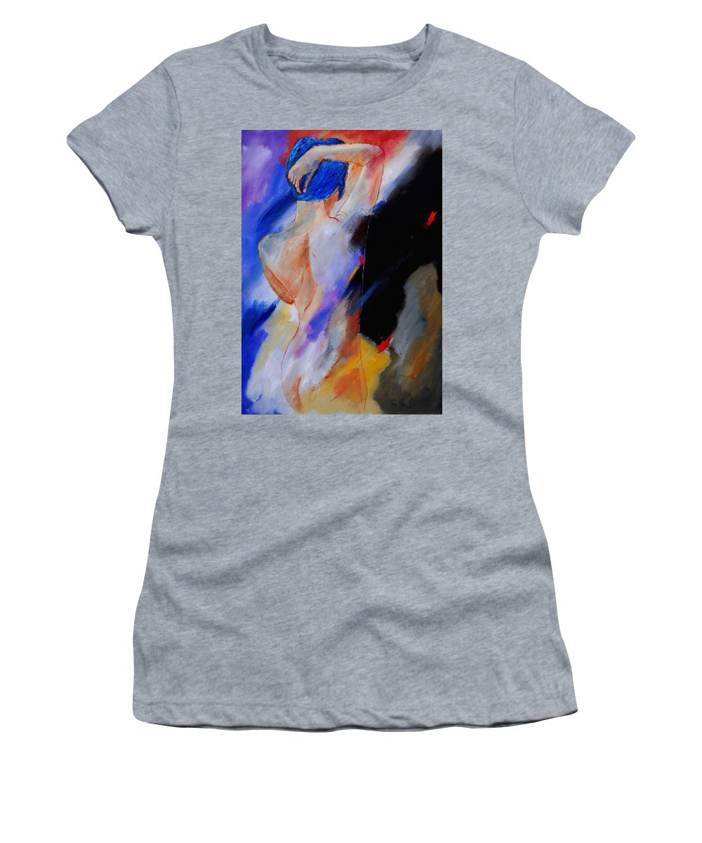 Nude Women's T-Shirt (Athletic Fit) featuring the painting Nude 579020 by Pol Ledent