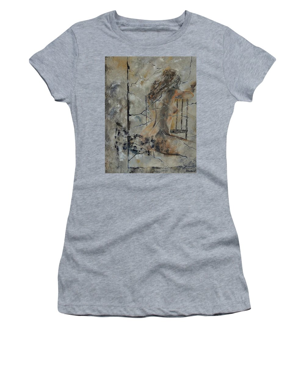 Nude Women's T-Shirt featuring the painting Nude 910111 by Pol Ledent