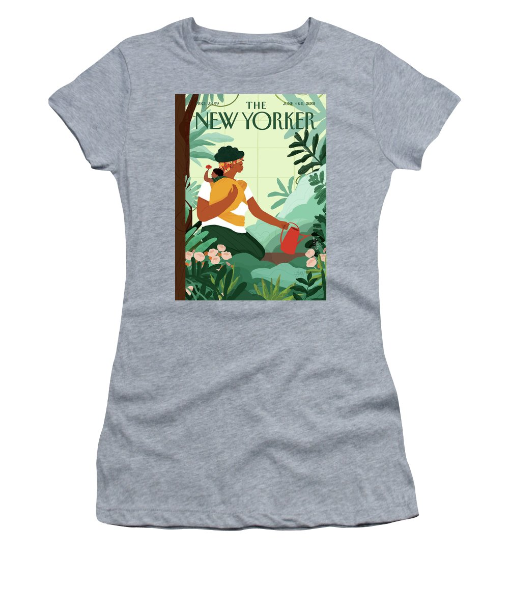 Nurture Women's T-Shirt featuring the painting Nurture by Loveis Wise