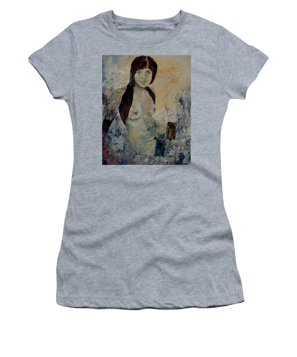 Girl Women's T-Shirt featuring the painting Nuse 56902171 by Pol Ledent