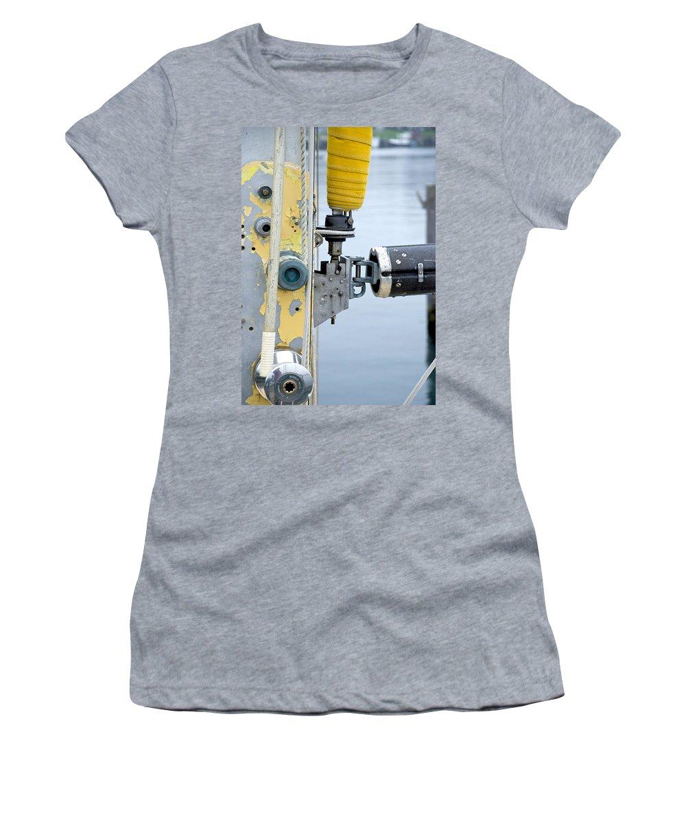 Oak Bluffs Women's T-Shirt (Athletic Fit) featuring the photograph Oak Bluffs Sailor by Charles Harden