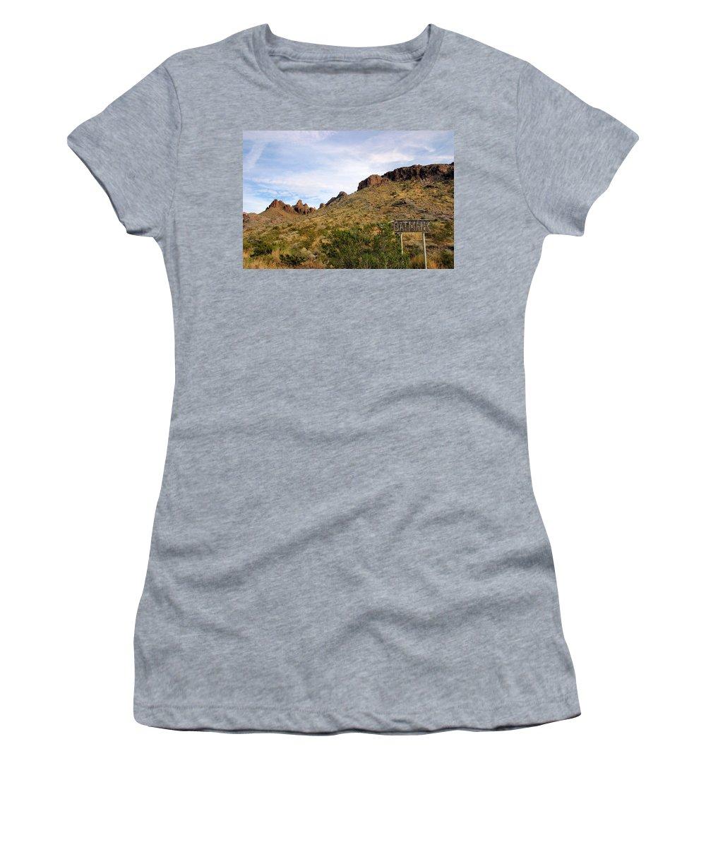 Oatman Women's T-Shirt (Athletic Fit) featuring the photograph Oatman by Kristin Elmquist