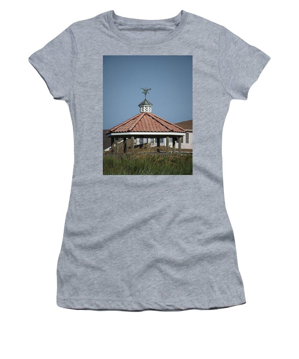 Ocean Women's T-Shirt featuring the photograph Ocean Isle Pelican Weathervane by Teresa Mucha