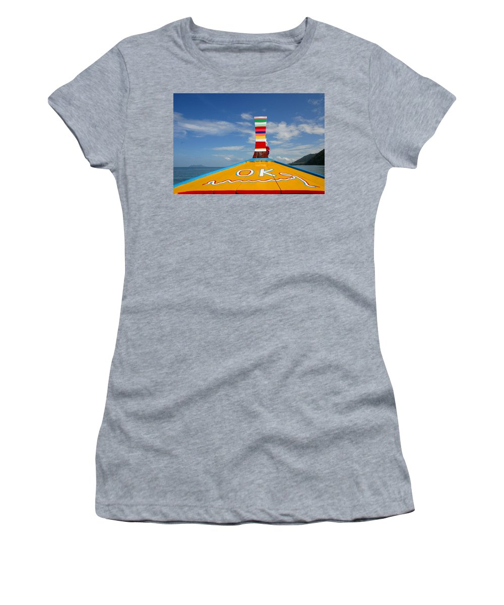 Women's T-Shirt (Athletic Fit) featuring the photograph Okay In Thailand by Minaz Jantz