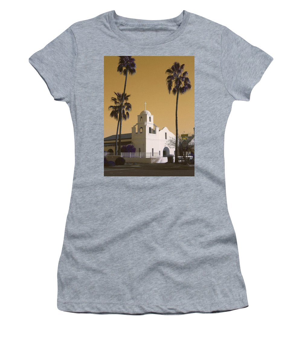 Old Women's T-Shirt featuring the photograph Old Adobe Mission Poster by Gordon Beck