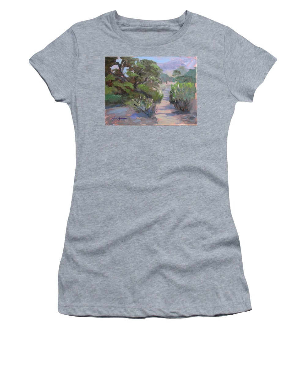 Landscape Women's T-Shirt (Athletic Fit) featuring the painting Old Agoura by Jay Johnson
