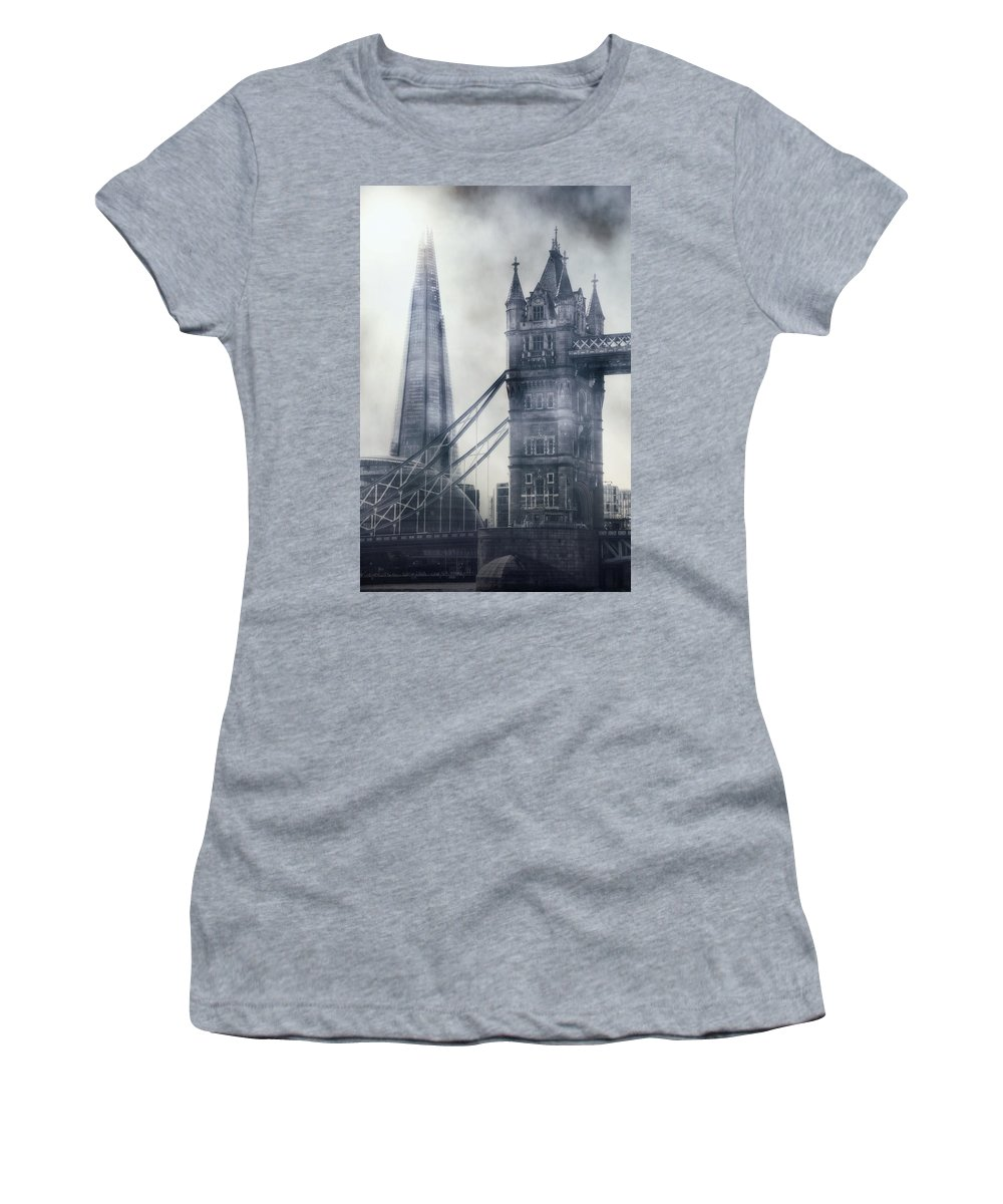 London Women's T-Shirt featuring the photograph old and new London by Joana Kruse