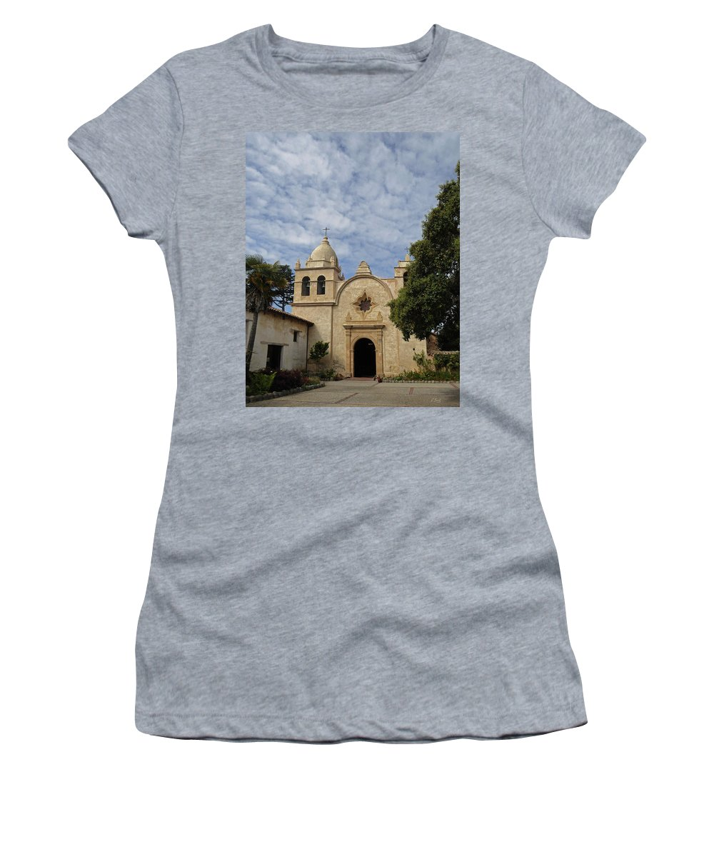 Old Women's T-Shirt featuring the photograph Old Carmel Mission by Gordon Beck