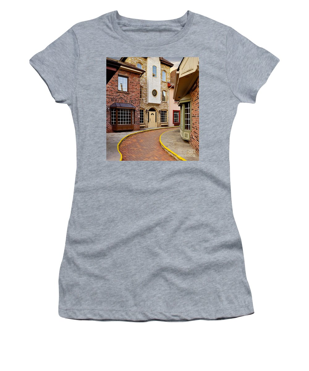 City Women's T-Shirt featuring the photograph Old City Street by Oleksiy Maksymenko