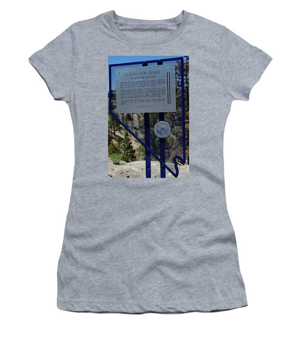 Usa Women's T-Shirt featuring the photograph Old Geiger Grade Nevada by LeeAnn McLaneGoetz McLaneGoetzStudioLLCcom