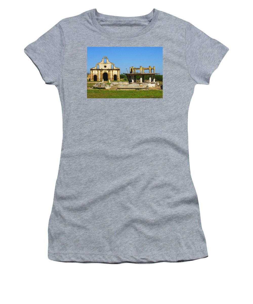 Old Guerrero Women's T-Shirt (Athletic Fit) featuring the photograph Old Guerrero Mexico by Marilyn Hunt