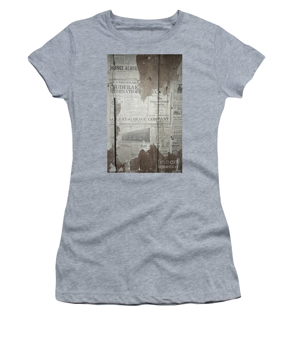 Newspapers Women's T-Shirt (Athletic Fit) featuring the photograph Old News by Richard Rizzo