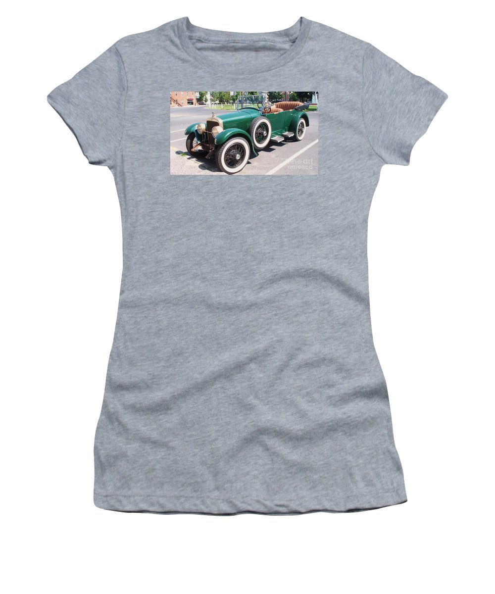 Transportation Women's T-Shirt (Athletic Fit) featuring the photograph Old Vintage Car by Eric Schiabor