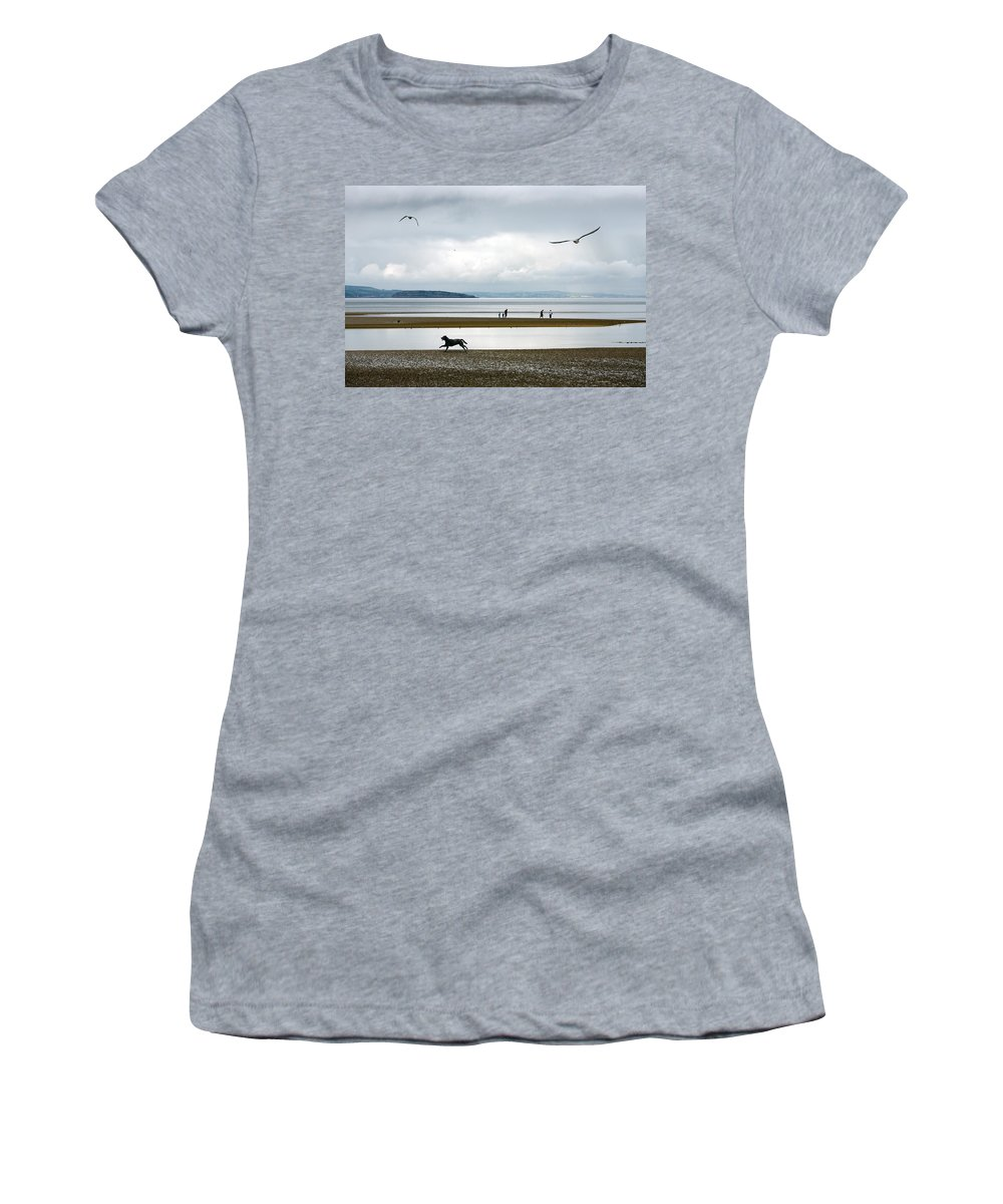 Beach Women's T-Shirt (Athletic Fit) featuring the photograph On The Beach by Mal Bray