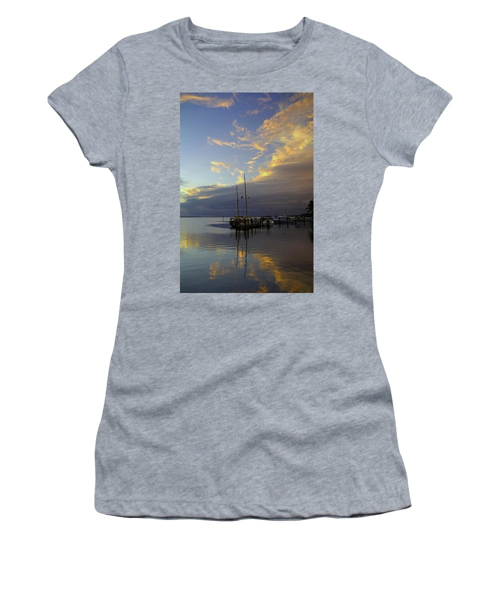 Sunset Women's T-Shirt (Athletic Fit) featuring the photograph Only For A Moment by Michiale Schneider